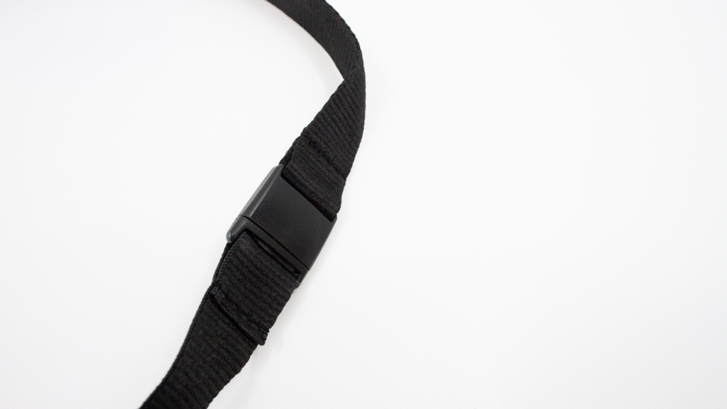 Safety Break Away for lanyard, black in colour.