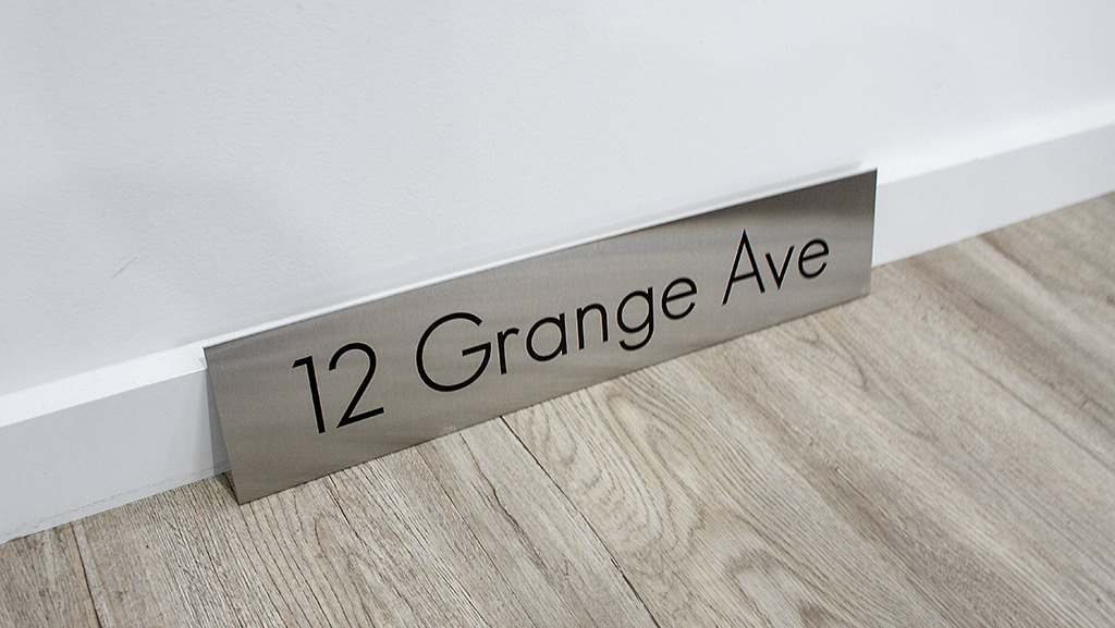 Stainless street number house number signs custom
